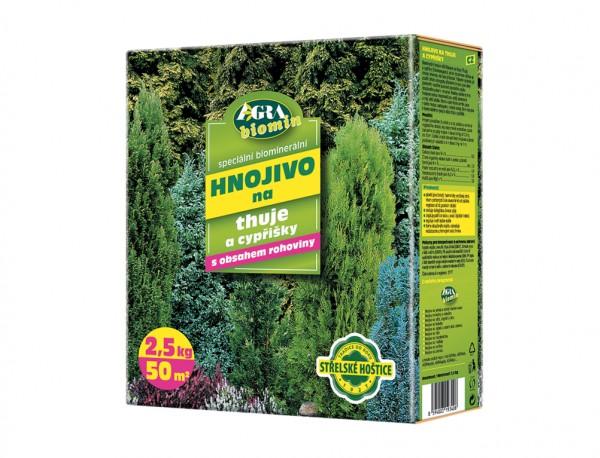 Forestina Biomin hnojivo na THÚJE A CYPŘIŠKY 2,5 kg 0042