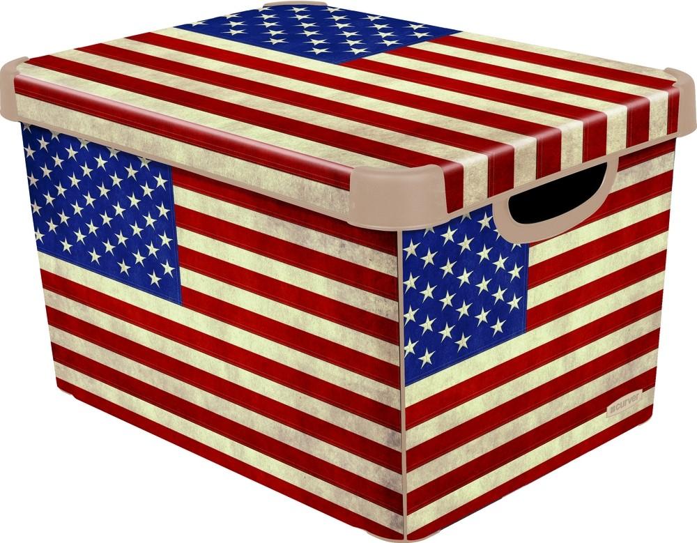 CURVER Box úložný dekorativní L AMERICAN FLAG Curver 04711-A33