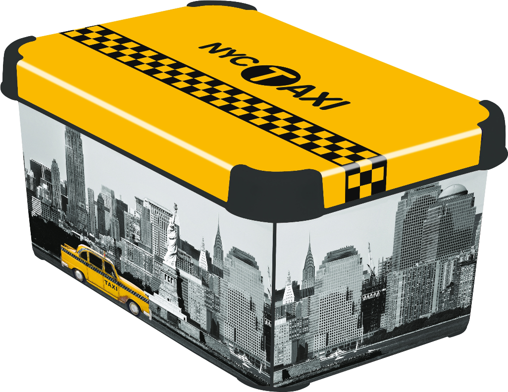CURVER Box úložný dekorativní L NEW YORK Curver 04711-D16