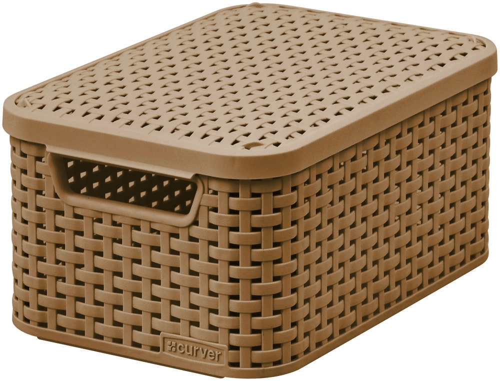 CURVER Úložný box RATTAN Style2 s víkem S - tm.mocha 03617-213