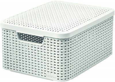 CURVER Úložný box RATTAN Style2 s víkem M - krémový Curver 03618-885