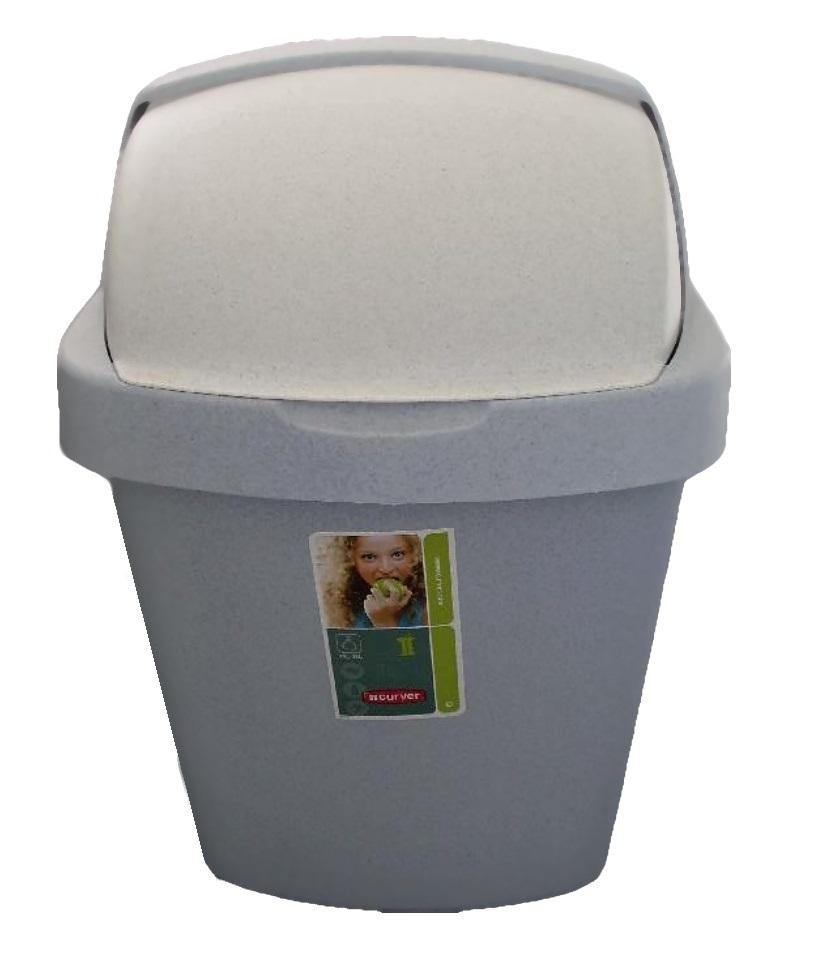 CURVER Koš odpadkový 10L ROLL TOP luna (Curver 03974-856)