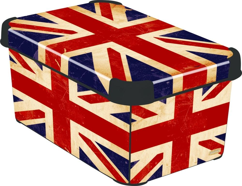 CURVER Box úložný dekorativní L BRITISH FLAG Curver 04711-D99