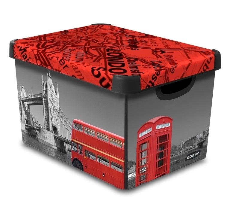 CURVER Box úložný dekorativní L LONDON Curver 04711-L08
