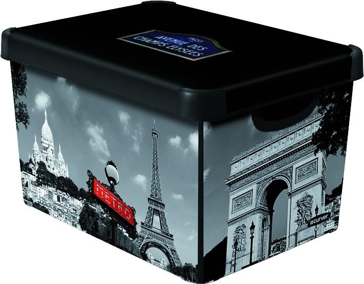 CURVER Box úložný dekorativní L PARIS Curver 04711-P35
