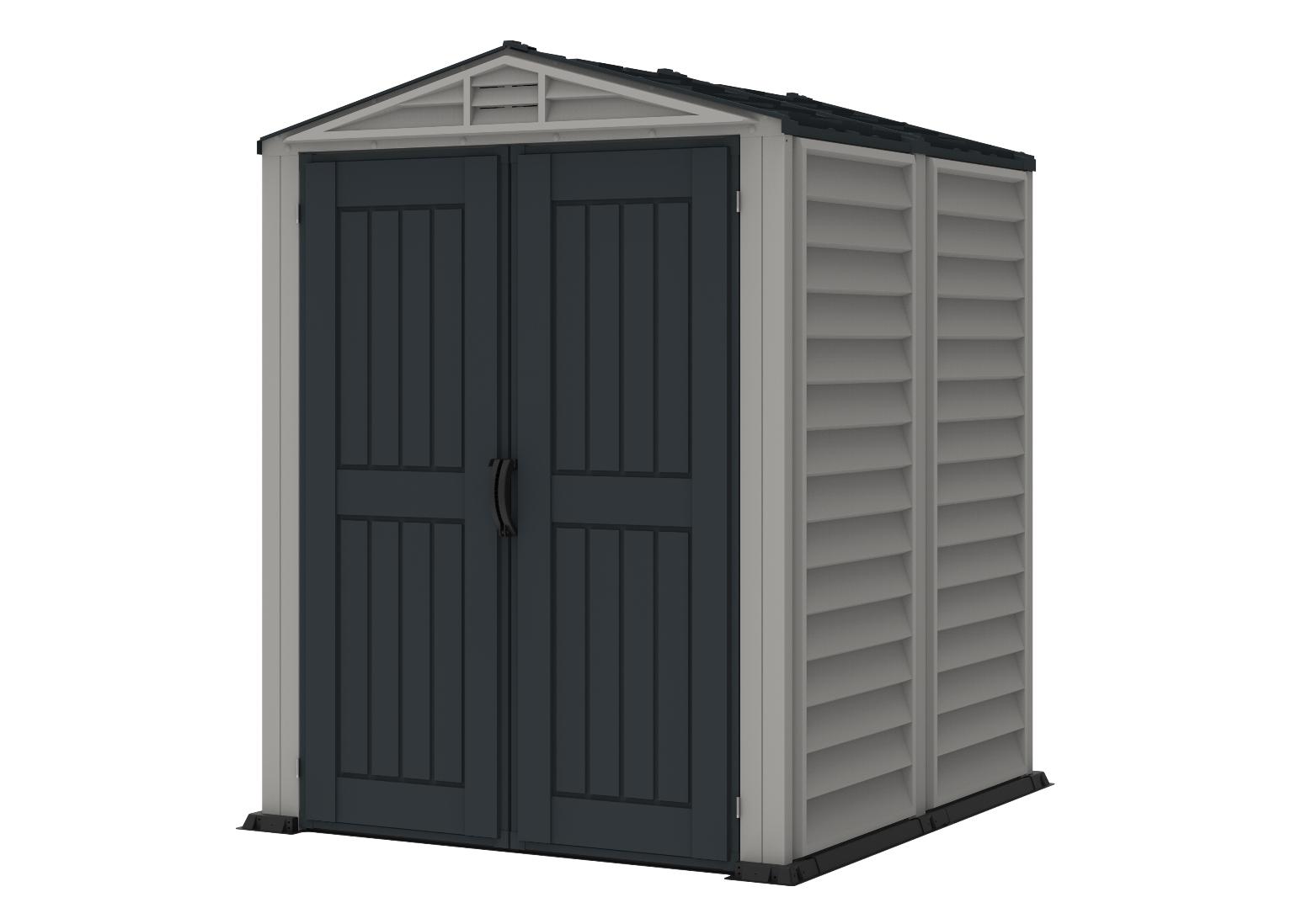 DURAMAX YardMate Plus 2,8 m² - šedý/antracit + podlahová konstrukce Zahradní plastový domek 5'x5' - DURAMAX 35525