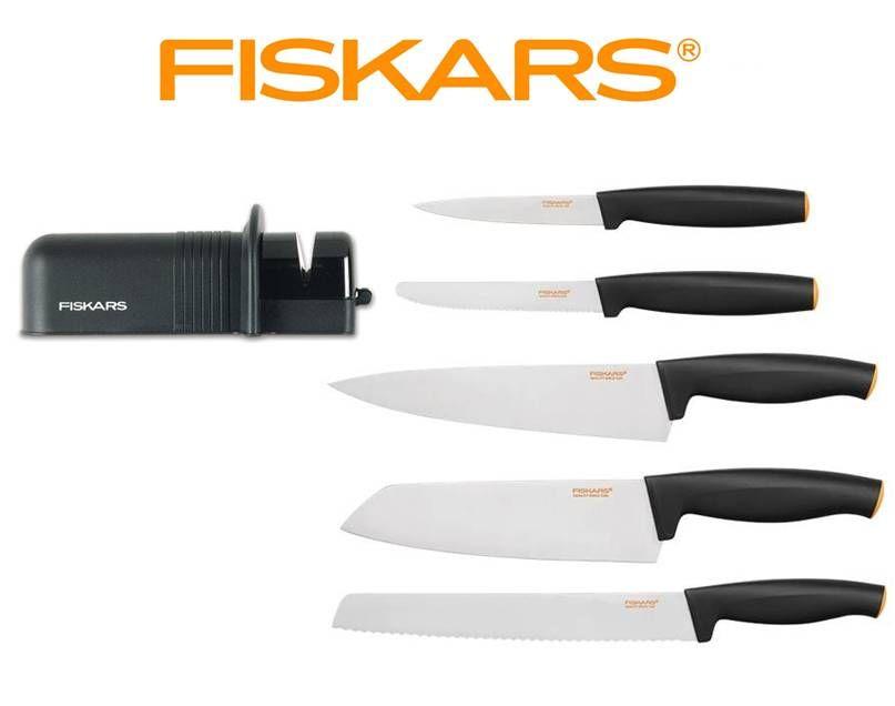 FISKARS SET startovací set 5 ks Fiskars Functional Form + ostřič, Fiskars 1014201 + 1023811