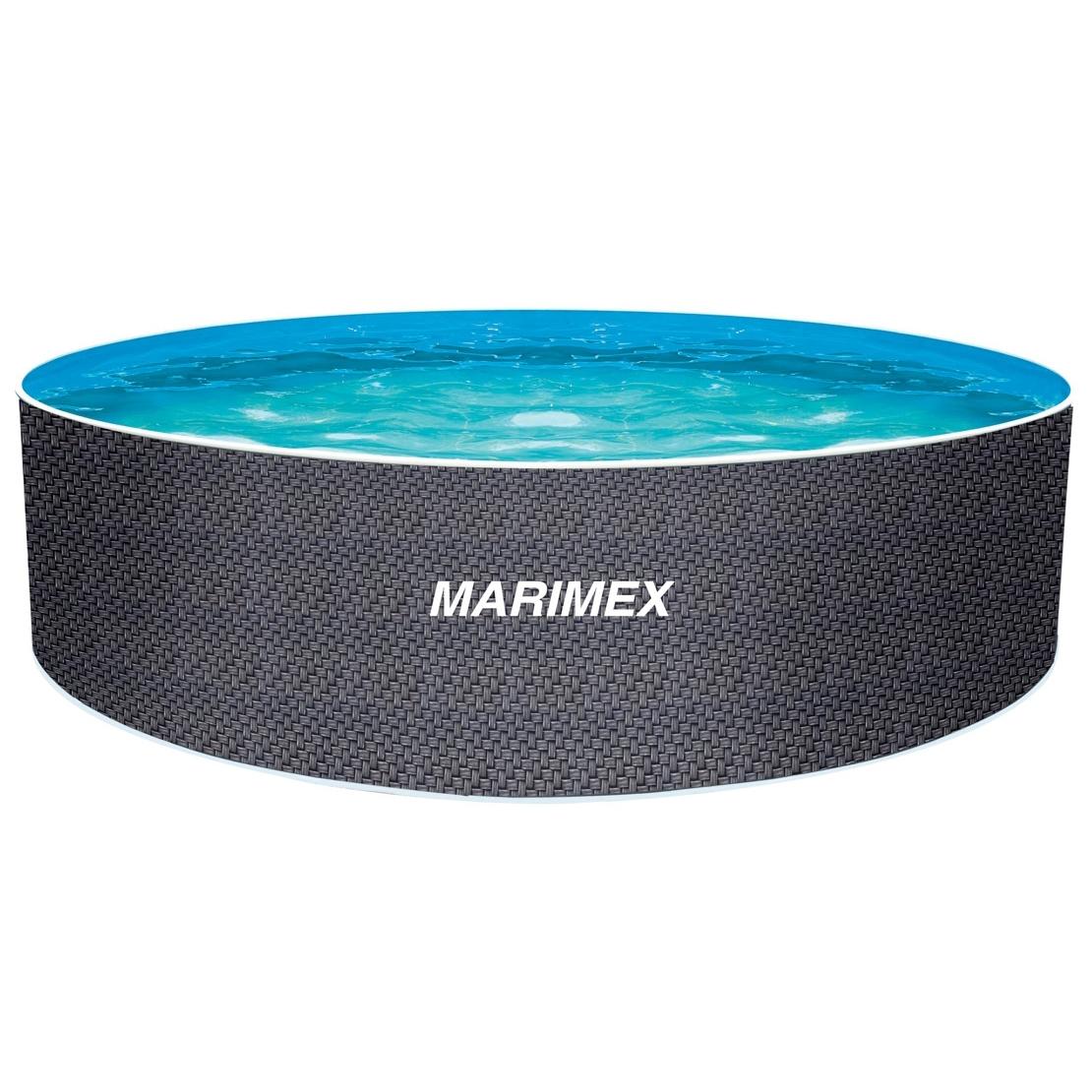 MARIMEX Orlando Bazén ø 3,66 x 1,22 m bez filtrace - motiv ratan MARIMEX 10340263
