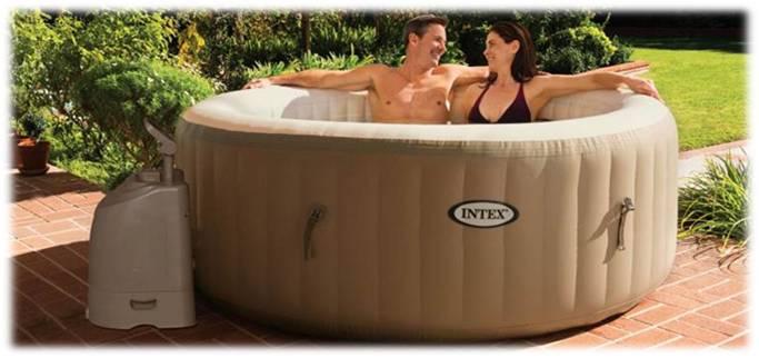 INTEX Bazén vířivý nafukovací Pure Spa - Bubble - béžový (Marimex 11400217)
