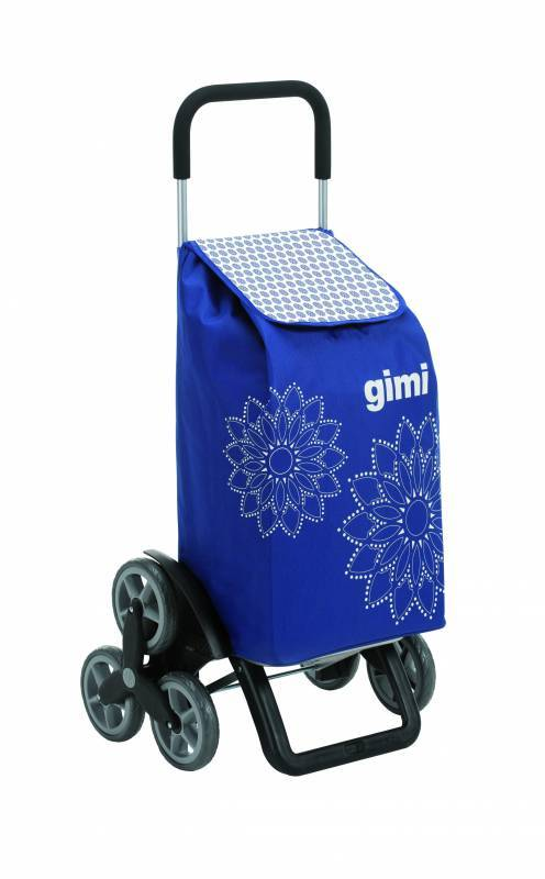 Gimi Gimi Tris Floral modrý nákupní vozík 56l GIMI 154312