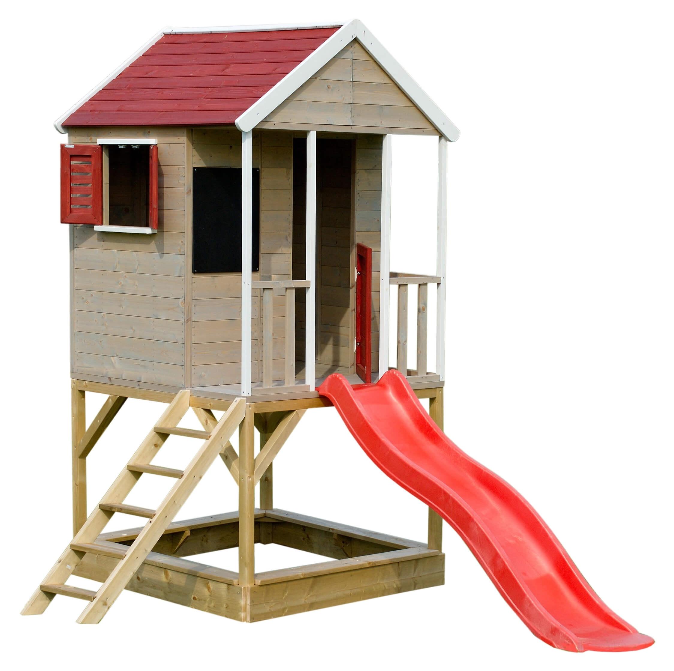 MARIMEX Dětský dřevěný domeček Veranda se skluzavkou MARIMEX 11640361
