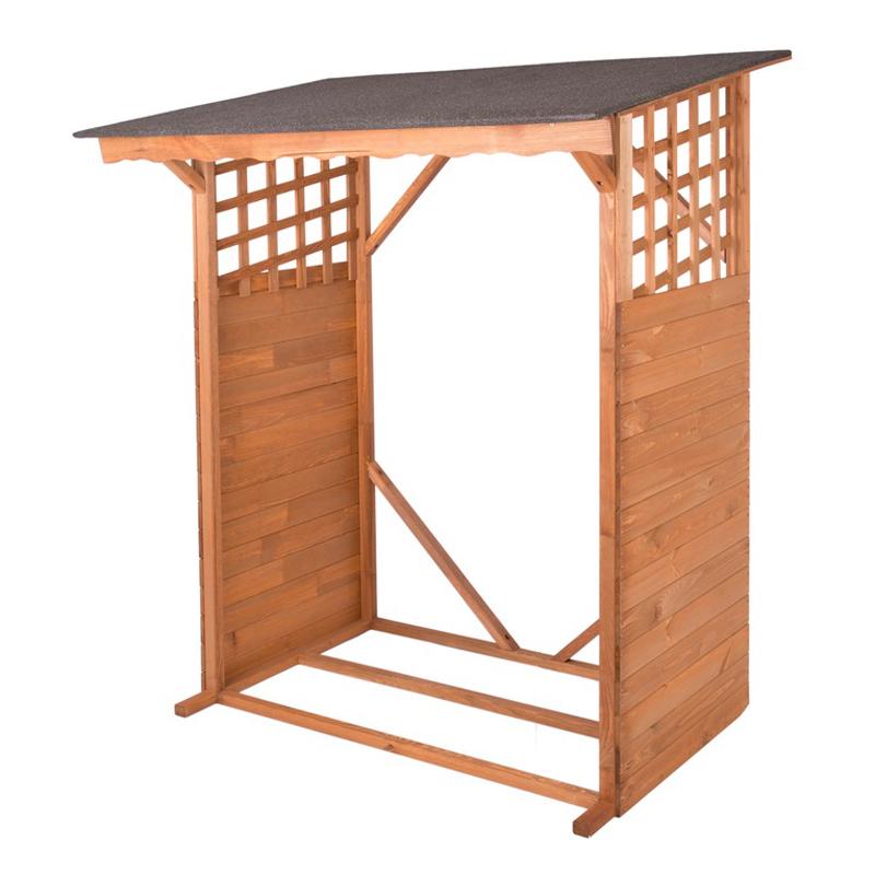 ROJAPLAST dřevěný dřevník 130 x 60 x 168 cm - hnědý 151/151