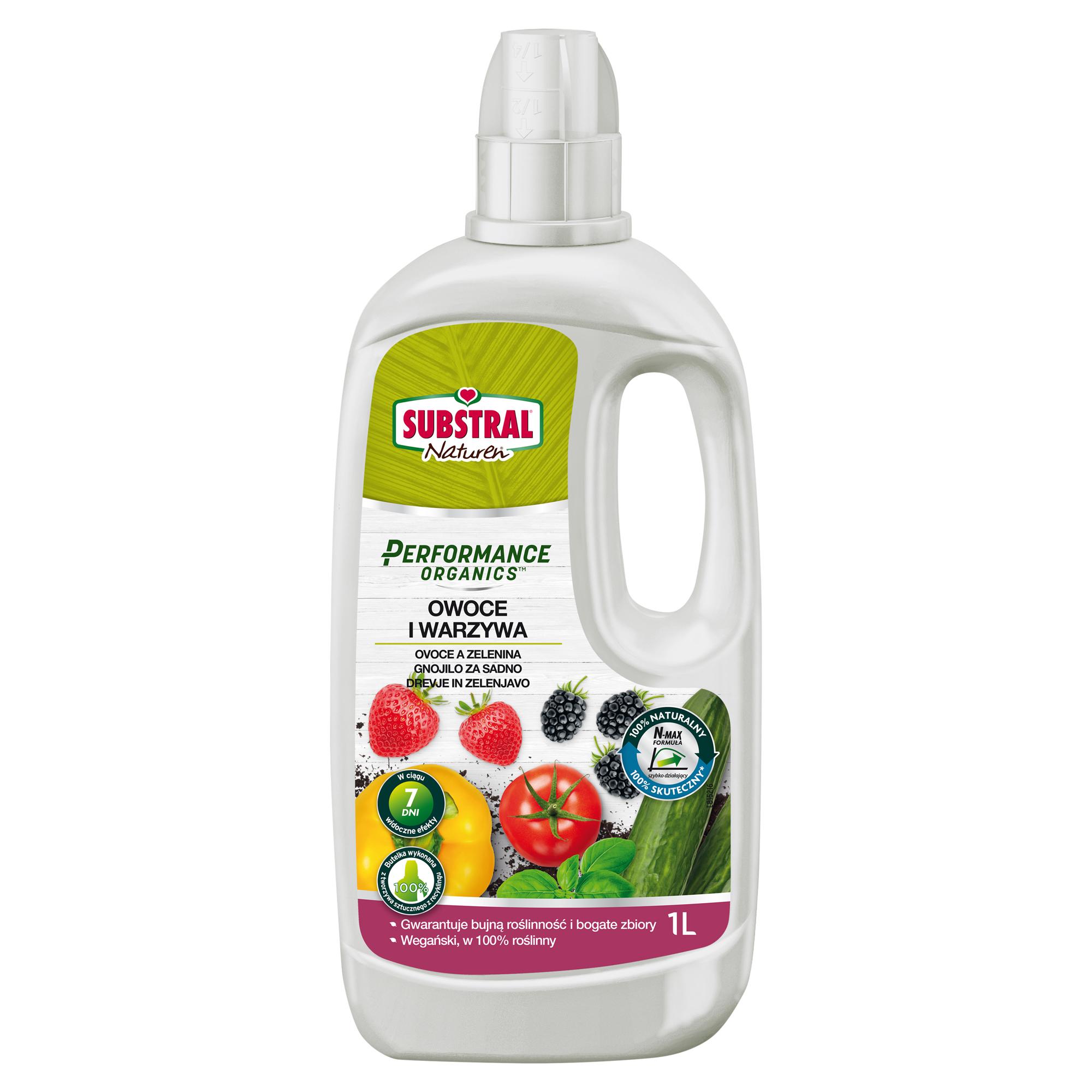 SUBSTRAL Performance Organics Hnojivo tekuté 1 l - ovoce a zelenina SUBSTRAL 1711101OR