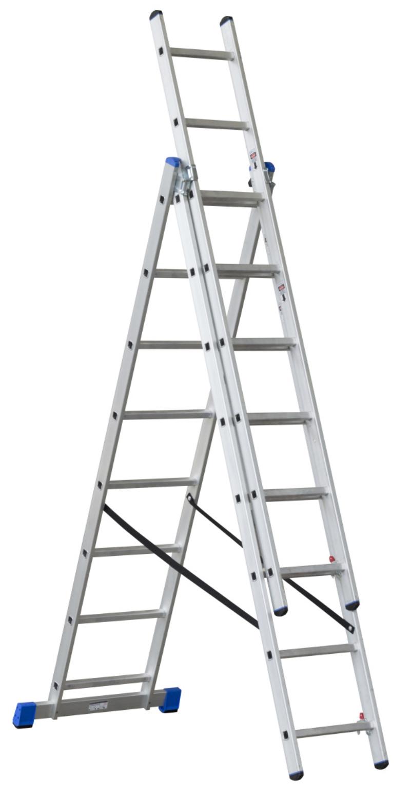 G21 Třídílný žebřík 5,1m 3 x 8 příček - G21 6390383