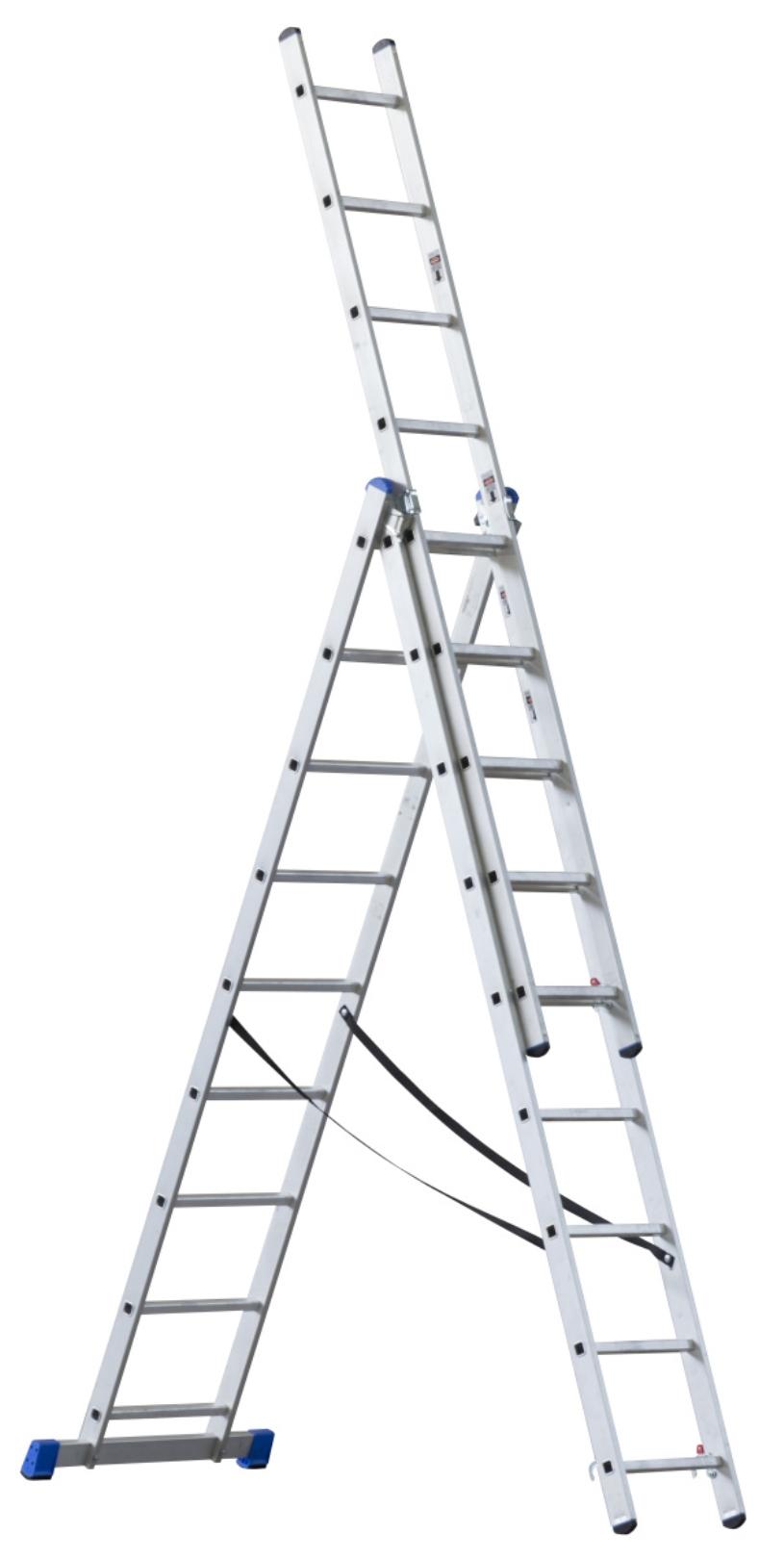 G21 Třídílný žebřík 5,9 m 3 x 9 příček - G21 6390384
