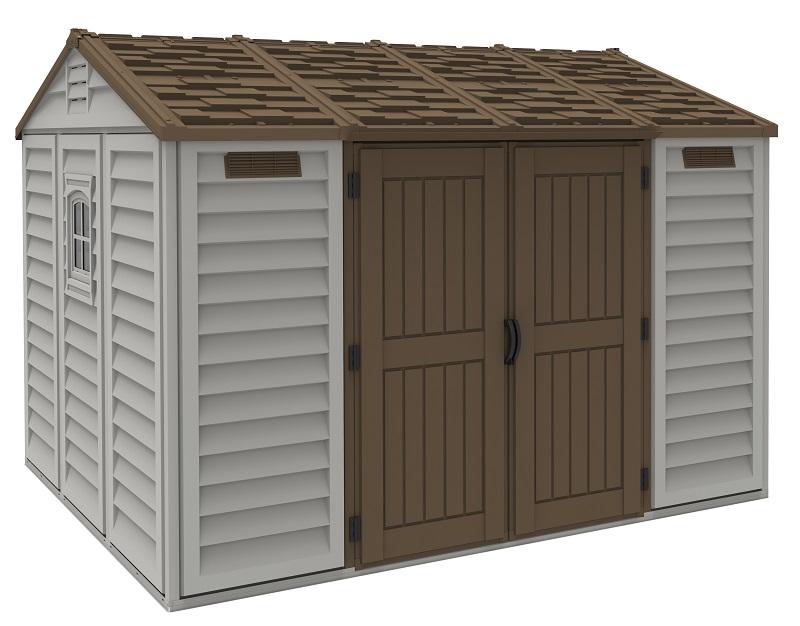 Duramax APEX 7,6m2 (326 x 249 cm) + podlahová konstrukce - materiál: vinyl - Zahradní domek DURAMAX (model 30116 -10,5x8´)