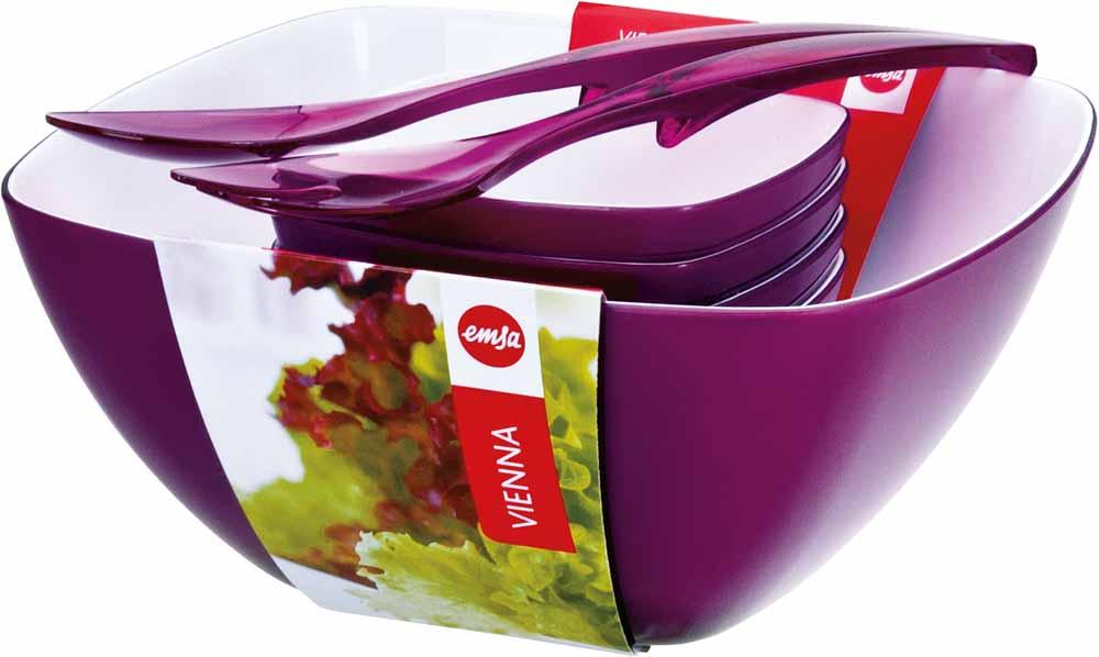 EMSA Salátový set 6-ti dílný fialový Vienna Emsa 512764