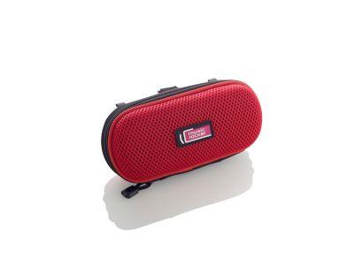 Kapsička s reproduktory pro mobilní telefon Music 2 Go - červený ...