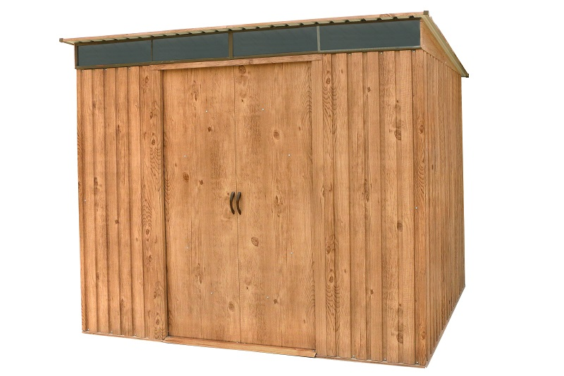 DURAMAX Pent Roof Skylight zahradní domek 4,7m2, dekor dub 0,33 mm, DURAMAX 20545