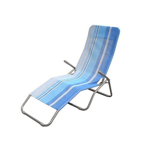 Happy Green Relaxační plážové lehátko PRUH MODRÝ