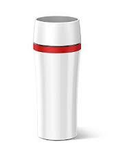 EMSA Termohrnek bílý/červený 0,36 L TRAVEL MUG Fun Emsa