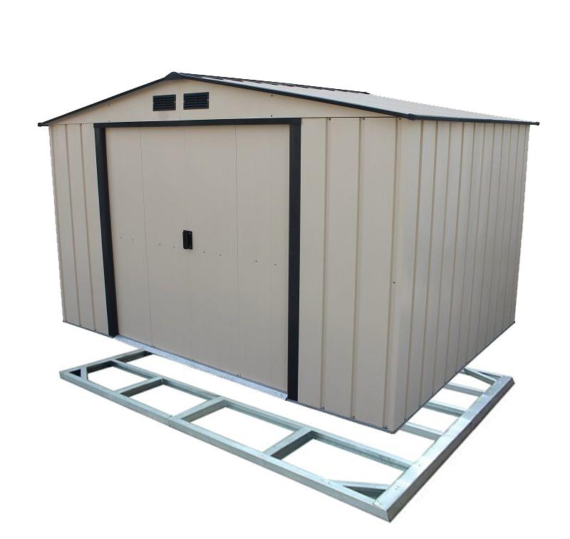 Duramax COLOSSUS ECO 7,8 m2 zahradní domek - světle béžový + podlahová konstrukce