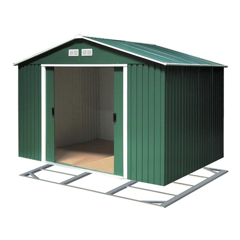 DURAMAX Zahradní domek Duramax TITAN ECO 4,7 m2 zelený + podlahová konstrukce DURAMAX 61161+57100