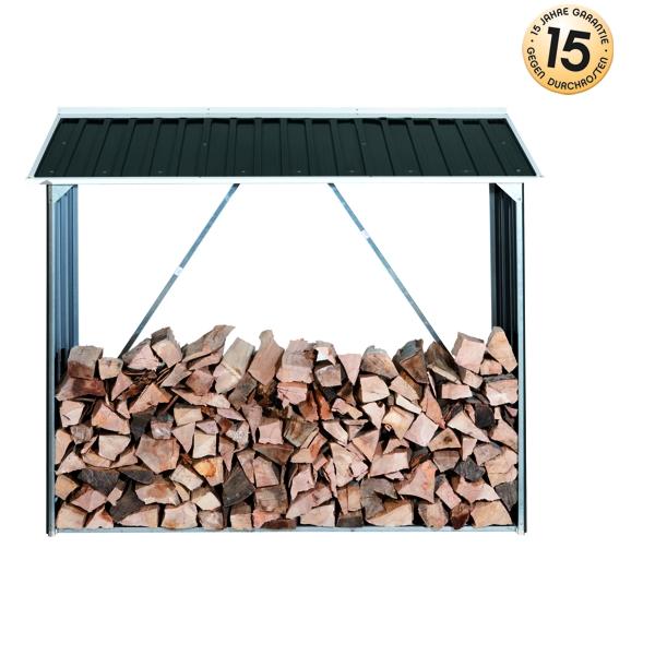 DURAMAX Přístřešek na dřevo plechový DURAMAX 53551 - antracit