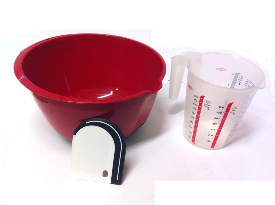CURVER Set na pečení - mísa, stěrka, odměrka