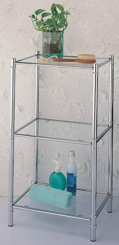 BATH & HOME Koupelnový regál rovný 87472