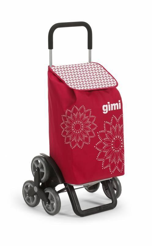Gimi Gimi Tris Floral červený nákupní vozík 56l GIMI 154313