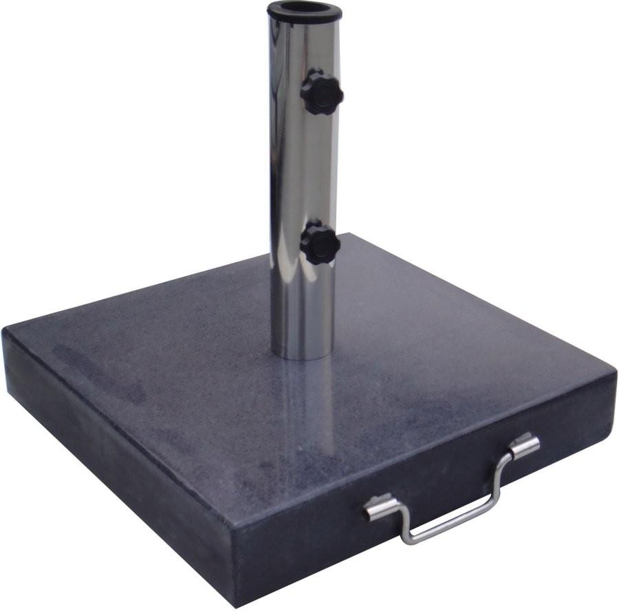 Podstavec čtvercový na slunečník - 30 kg černý granit