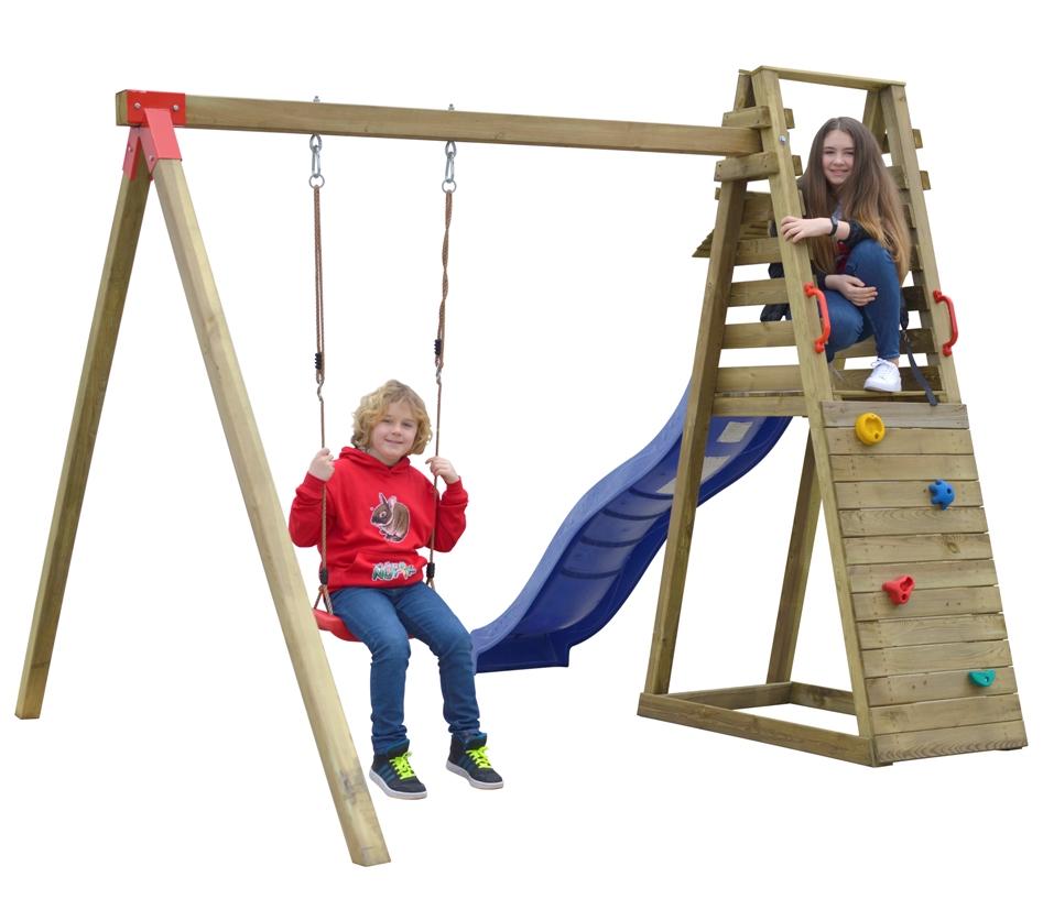 ASKO Dětské hřiště DOMINIK hrací sestava - houpačka, skluzavka, stěna