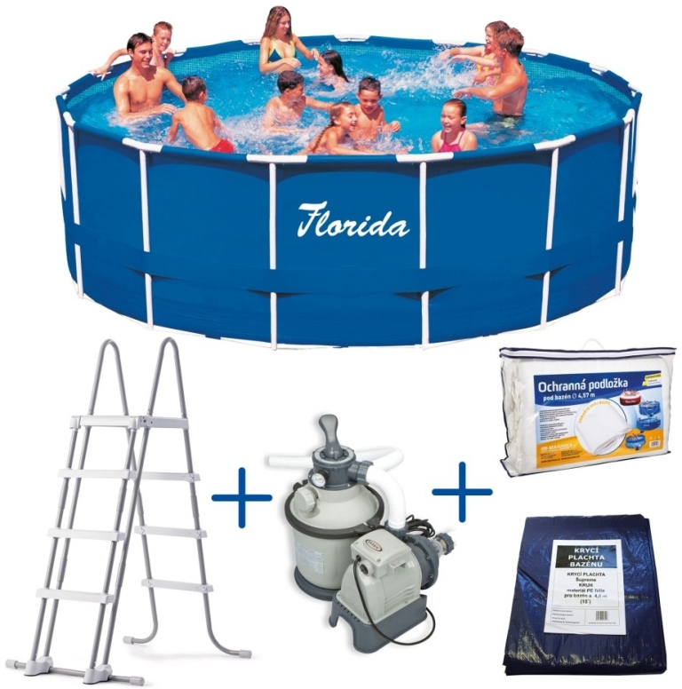 Marimex Bazén Florida 4,57 x 1,22 m + PF SAND 4 (Marimex 10340121)