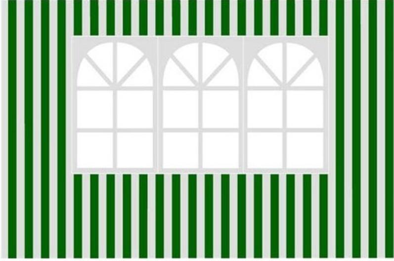 Happy Green Bočnice zahradního stanu s oknem - pruhy