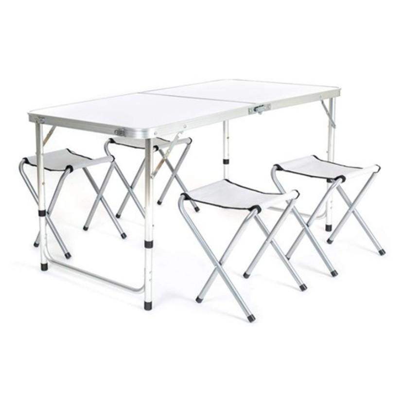 Happy Green Campingová sada BILBAO, stůl + 4 skládací židličky