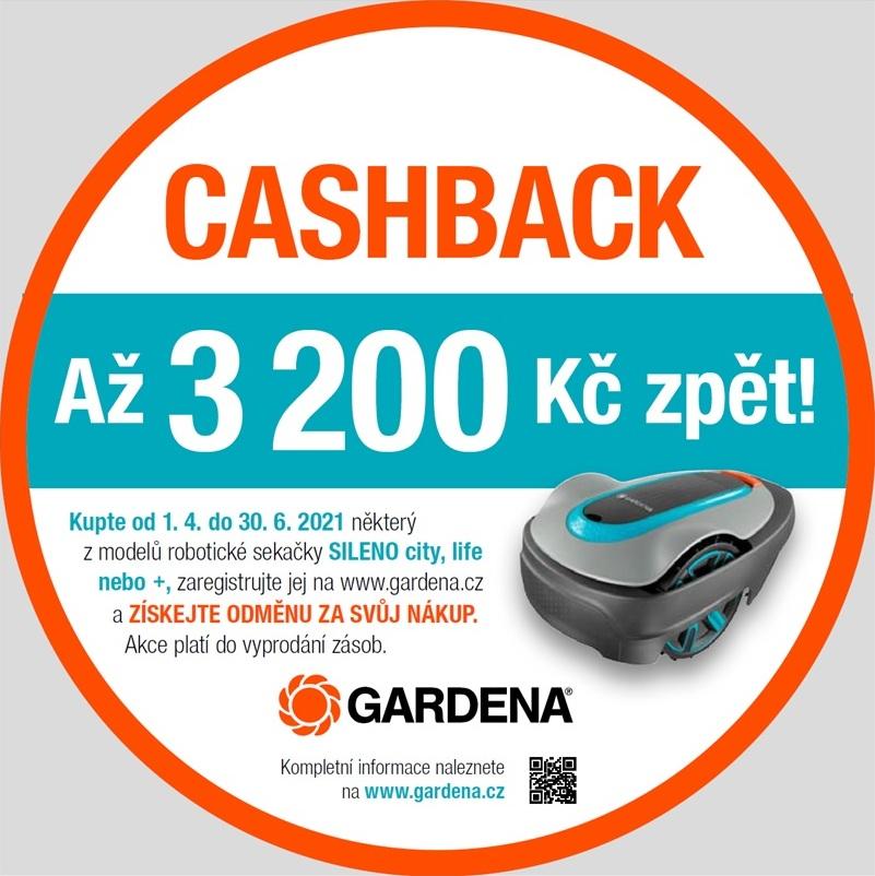 Gardena CASHBACK Gardena 3 200,- Kč zpět