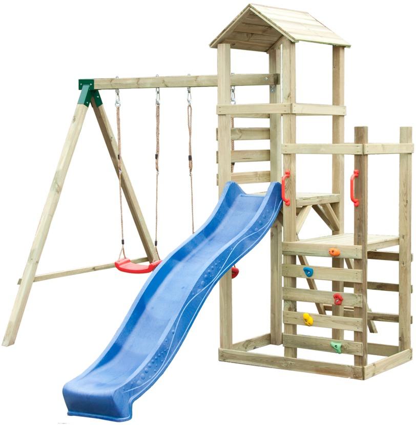 ASKO a. s. Dětská hrací sestava - houpačky, skluzavka, domeček, lezecká stěna