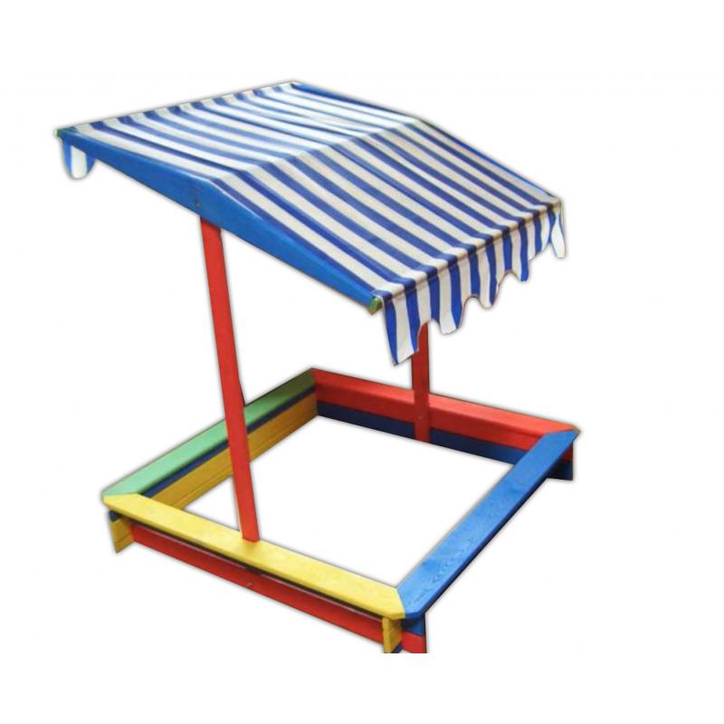 Rojaplast Dětské barevné pískoviště se stříškou 120x120 cm