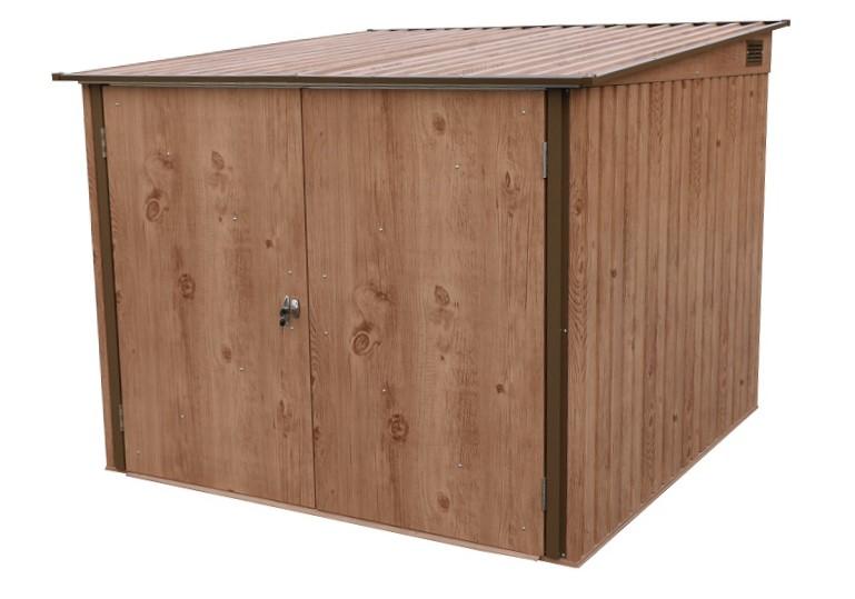 DURAMAX 73045 Plechový domek na jízdní kola 4,1 m² - imitace dřeva