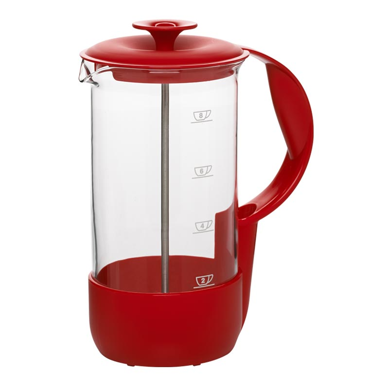 EMSA Varná konvice na sypaný čaj nebo kávu French press Red Neo Emsa 516248