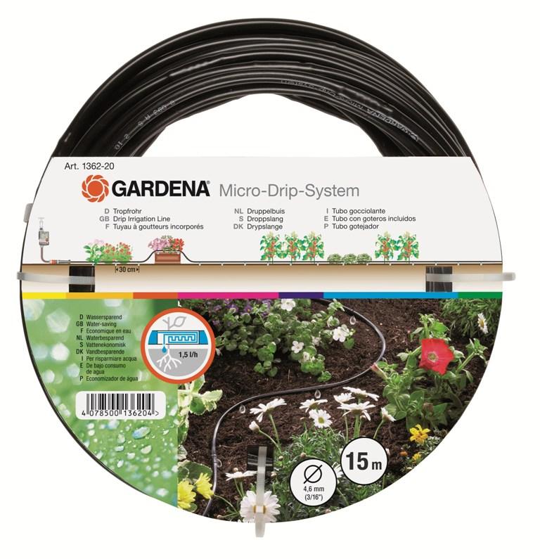Gardena mds-kapací hadice nadzemní 4,6 mm (3/16), 15 m , 1362-20