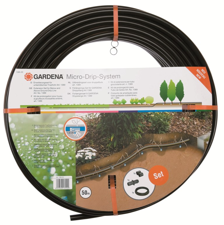 Gardena mds-kapací hadice podzemní 13,7 mm, 50 m - rozšiřovací sada, 1395-20