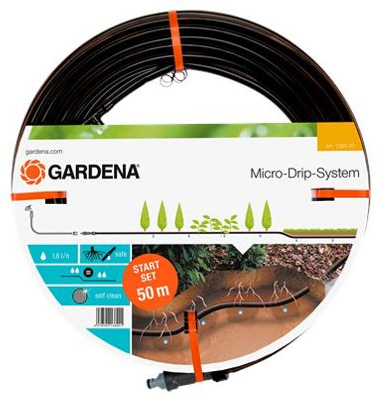 Gardena mds-startovací sada - kapací hadice podzemní, 50 m + základní přístroj 1000, 1389-20