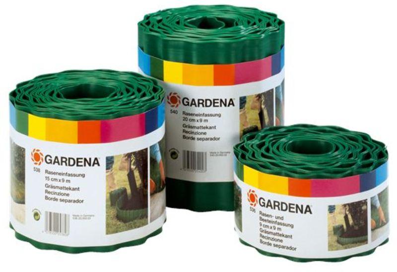 Gardena obruba trávníku, 15 cm výška / 9 m délka, 0538-20
