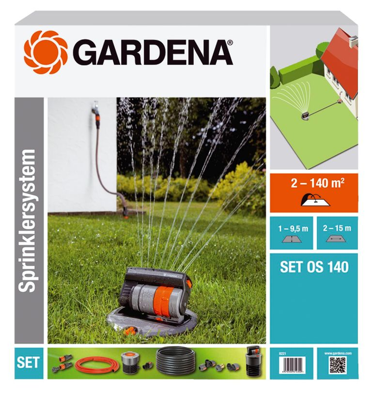 Gardena výsuvný čtyřplošný zadešťovač OS 140 - sada, 8221-20
