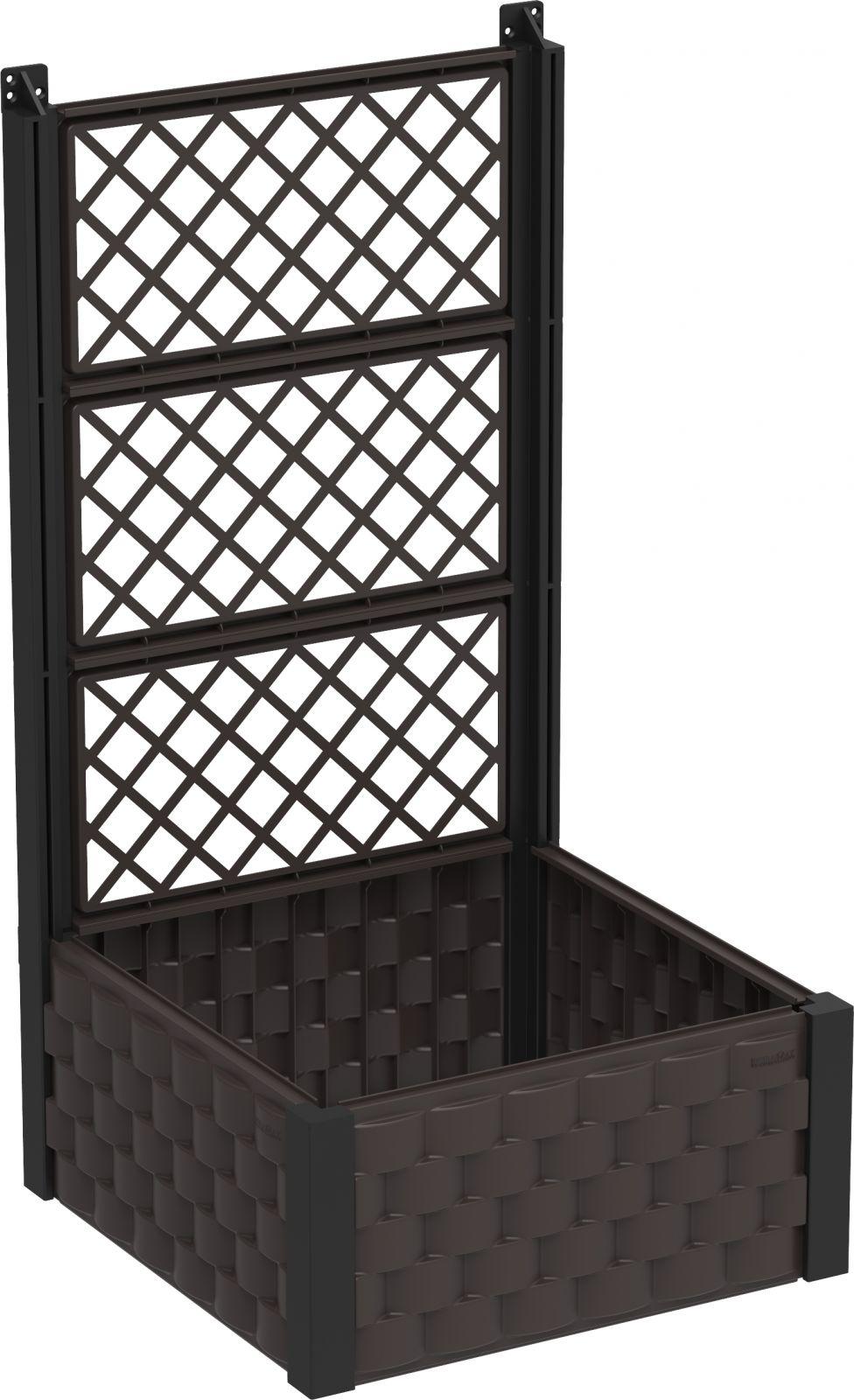 DURAMAX Nadzemní záhon 55 x 55 cm s treláží, hnědý, Duramax IDMFPGB006DW