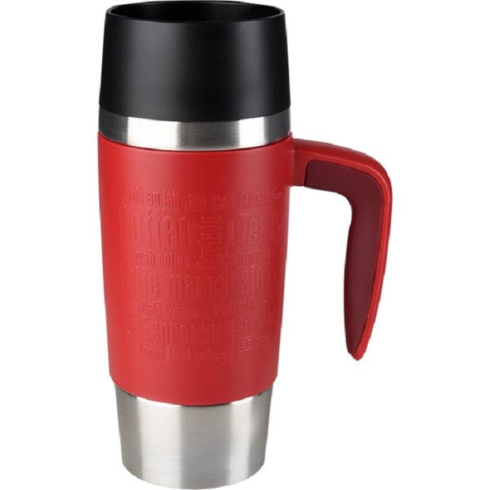 Tefal Travel Mug Handle cestovní hrnek s uchem 0,36 l - červený/nerez TEFAL K3074114