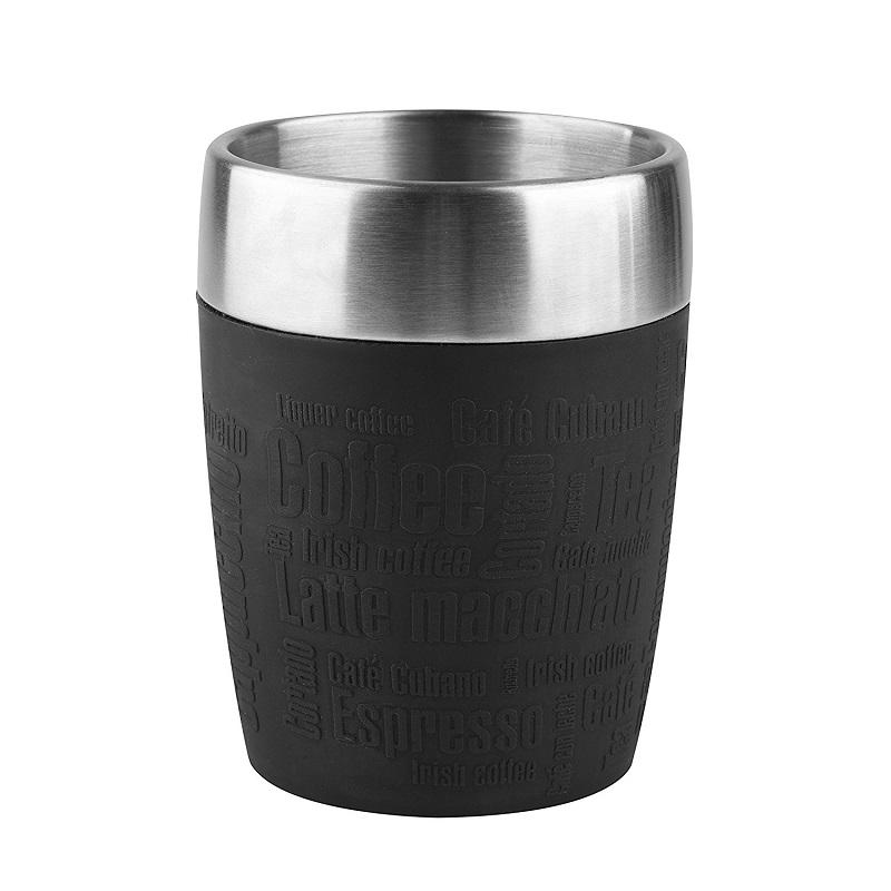 Tefal Travel Cup cestovní hrnek 0,2 l - černý/nerez TEFAL K3081314