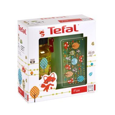 Tefal KIDS sada dóza plast+láhev tritan 0,4 L žlutá-liška Tefal K3169414